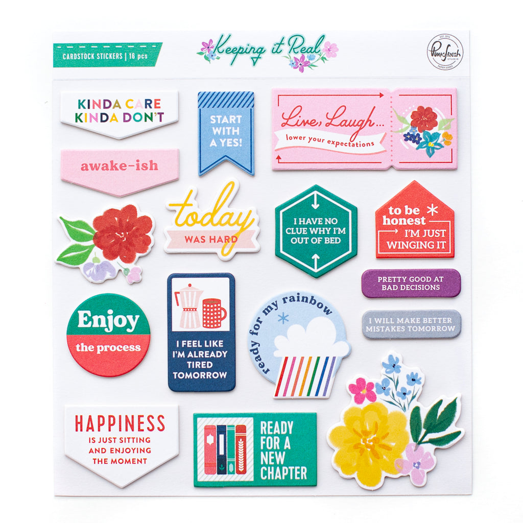 Keeping It Real: chipboard stickers