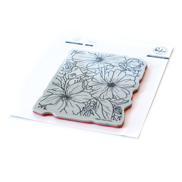 Floral Focus cling stamp