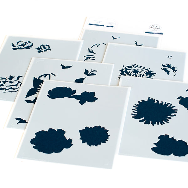 Flower Garden layering stencil set