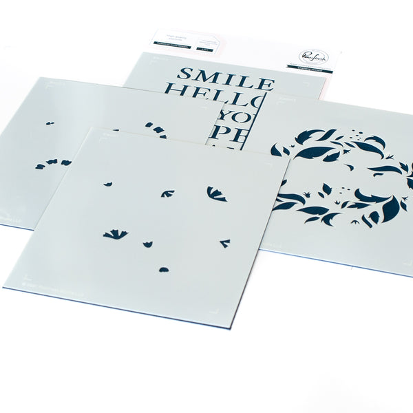 Reason to Smile Wreath layering stencil set
