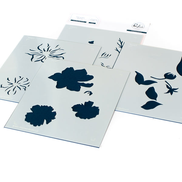 It's a New Day Floral layering stencil set