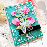 Layered bouquet stamp