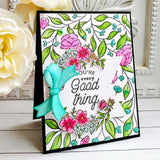 Charming Floral Wreath Stamp Set