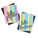 Pop out Straight stripes cling stamp set