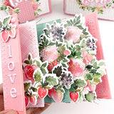 Inked florals stamp set