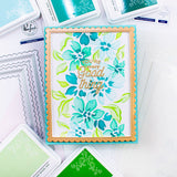 Seamless Floral Pattern Layered Stencil set