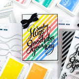 Pop Out: Diagonal Stripes Cling Stamp set