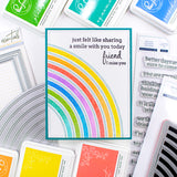 Pop out Rainbow cling stamp set