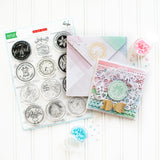 Stamping Village collaboration stamp set:  Holiday seals