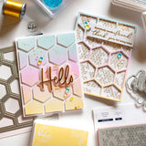 Pop Out: Hexagons Cling Stamp set