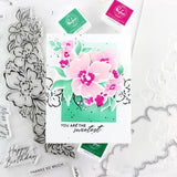Floral Notes coordinating stencil set