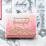 Lacy floral border die set
