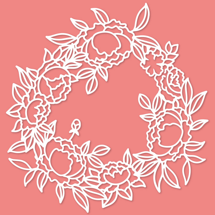 Lovely wreath 2 cut file