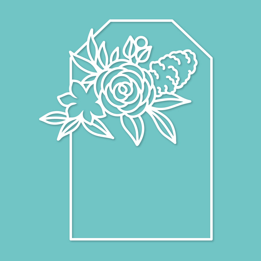 Floral tag cut file