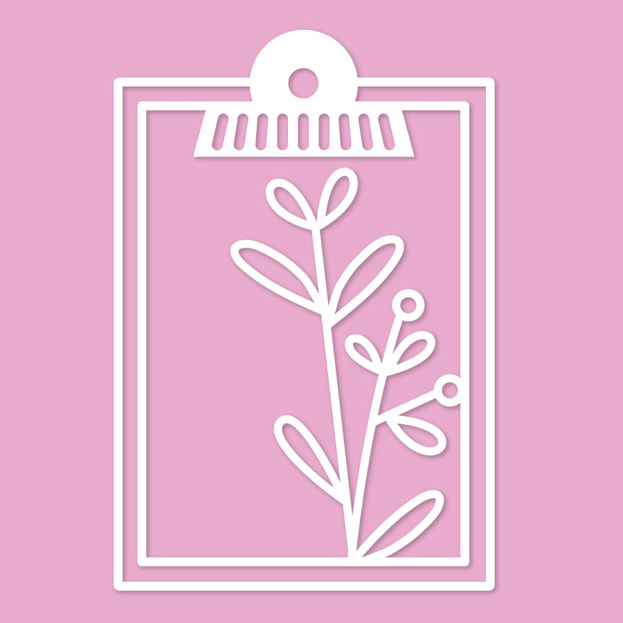 Clipboard with botanicals cut file