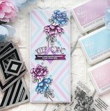 Cling rubber stamp: Nested Diamond