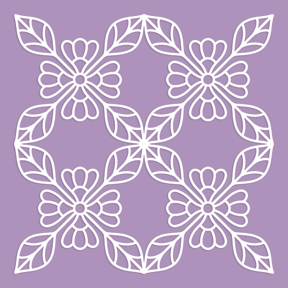 Floral Tile Background Cut File