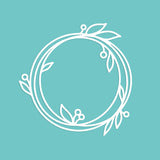 Modern Simple Wreath Cut File