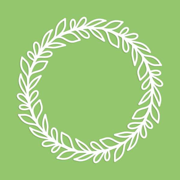 Leaf Wreath Cut File