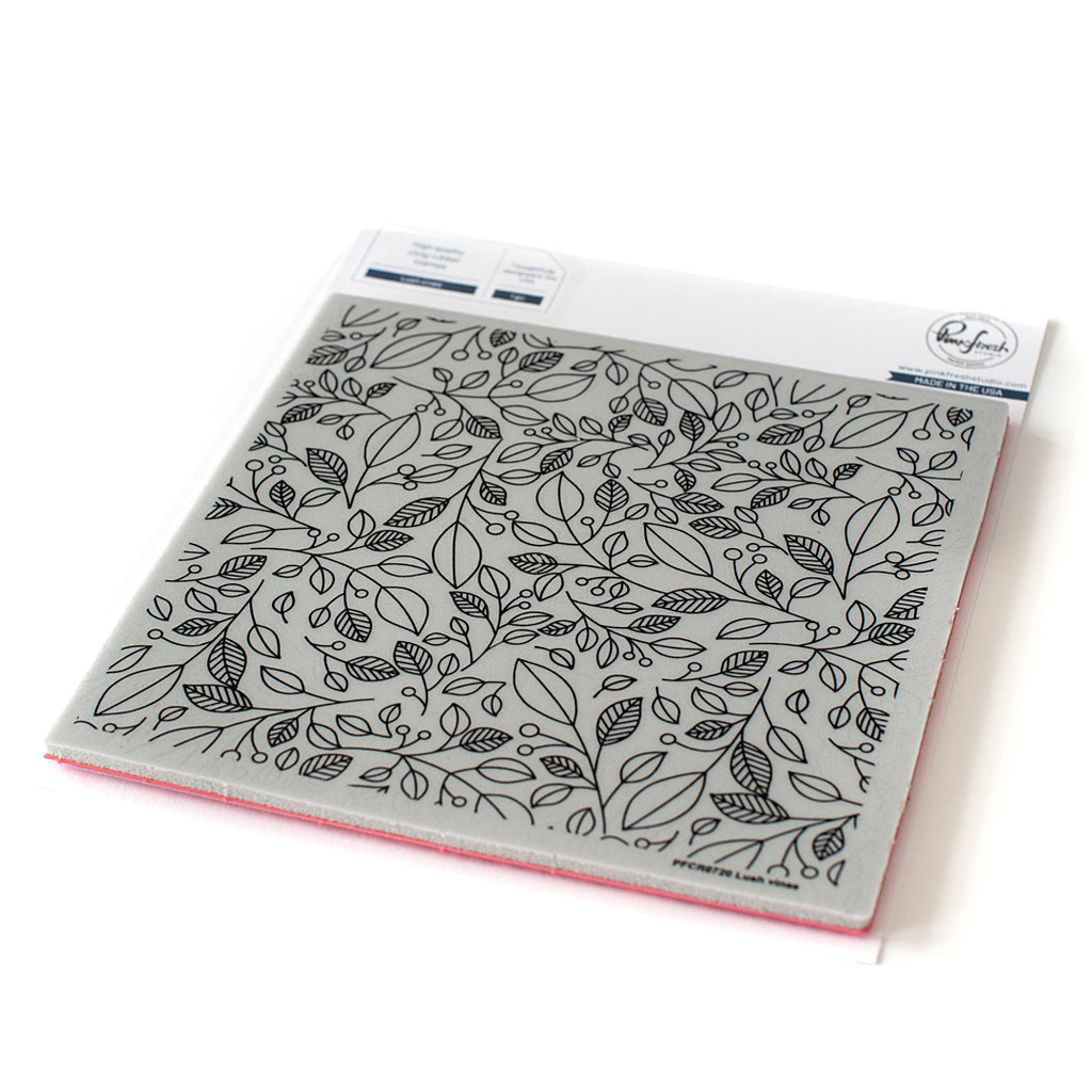Cling rubber stamp: Lush vines