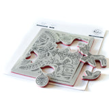 Pop Out Folk Christmas cling stamp