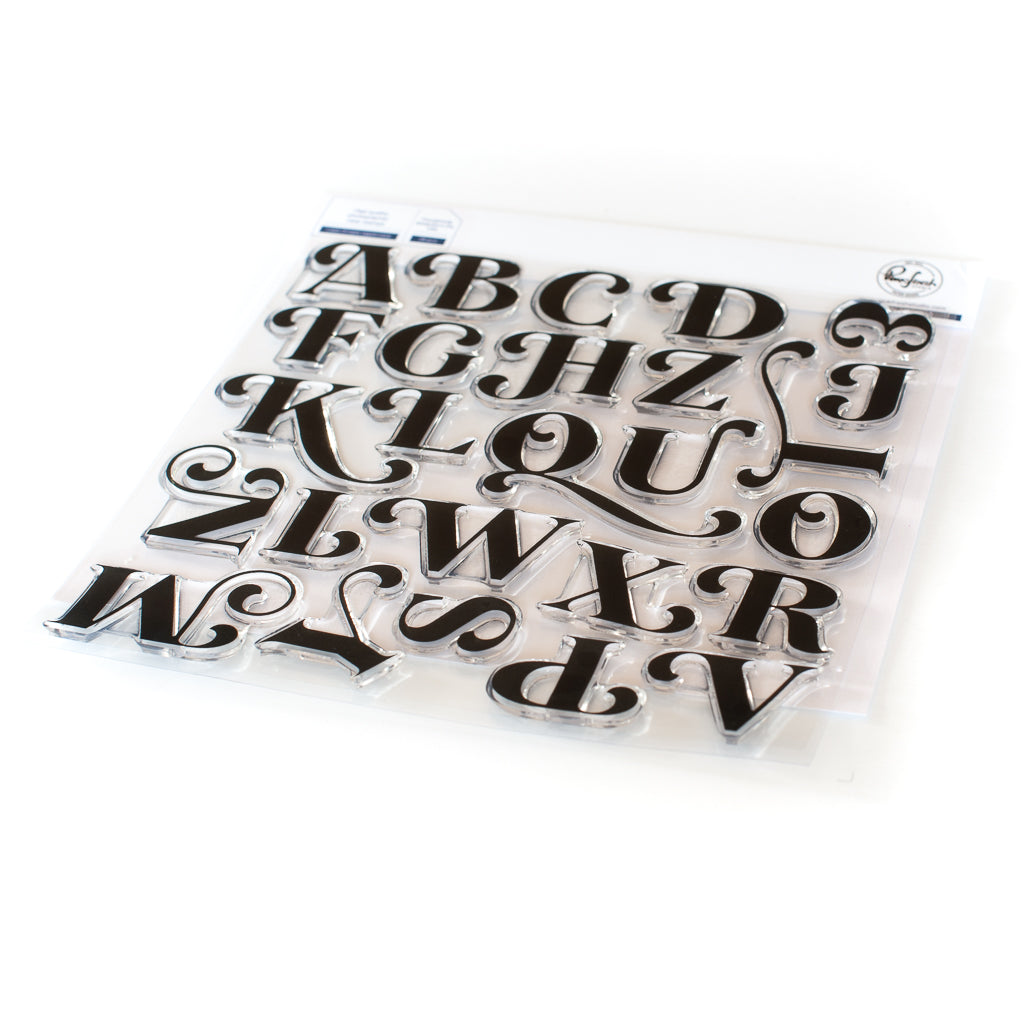 Lea's Ornate Uppercase Stamp Set
