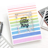 Pop out: Gradiating Stripes Cling Stamp