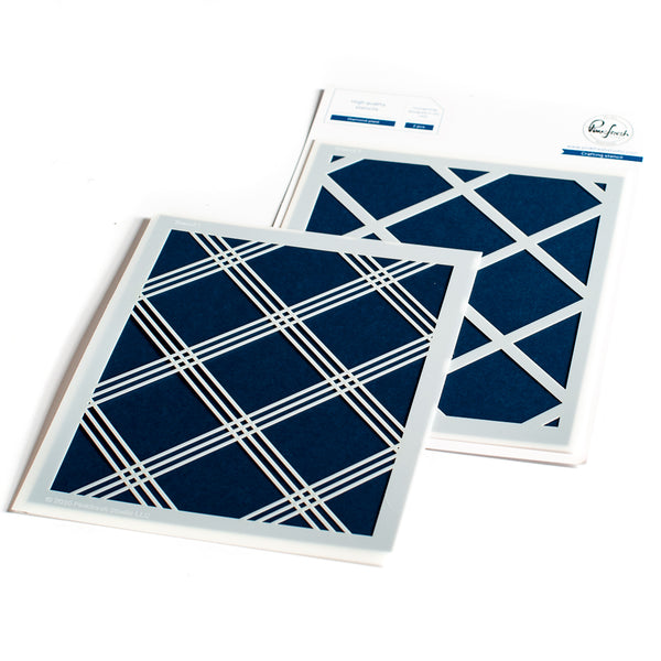 Diamond Plaid Stencil set
