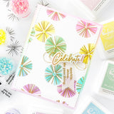 Seamless Starburst Circles stamp set