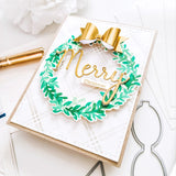 Overlapping Leafy Wreath Layered Stencil set