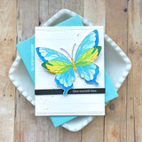 Butterflies layering stencil set