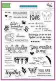 Stamping village collaboration stamp set:  We stand with you