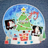 Christmas snow globe cut file
