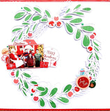 Holiday wreath cut file