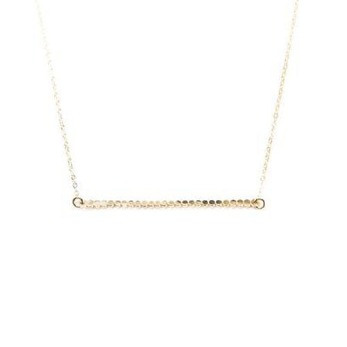 Beaded Bar Necklace | Gold, Silver, Gold Necklace | TL Jewelry