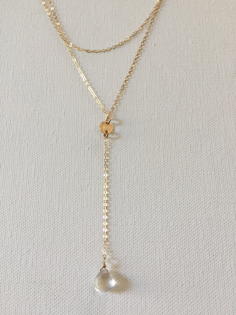 Double Layer Y Necklace