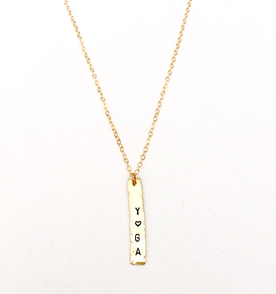 Skinny Tag Necklace