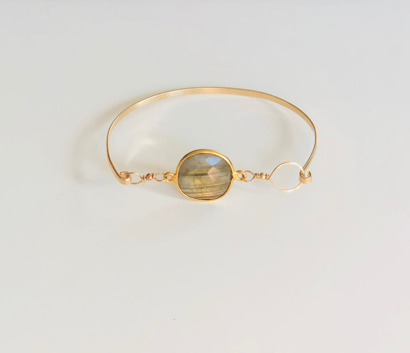 Labradorite Latch Bangle