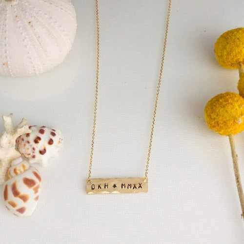 The Graduate Bar Necklace - Horizontal