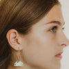 The Safiya Threader Hoop Earring
