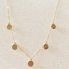 S O N I A | Gold/Silver Disc Necklace | TL Jewelry