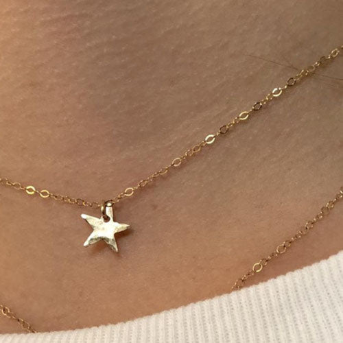 S T A R | 14k Gold or Sterling Silver Necklace | TL Jewelry