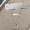 S O P H I E | Gold and Silver Hammered Bar Necklace | TL Jewelry