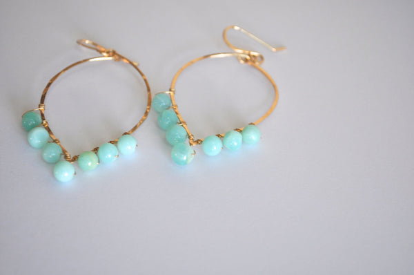 Peruvian Blue Opal Earrings