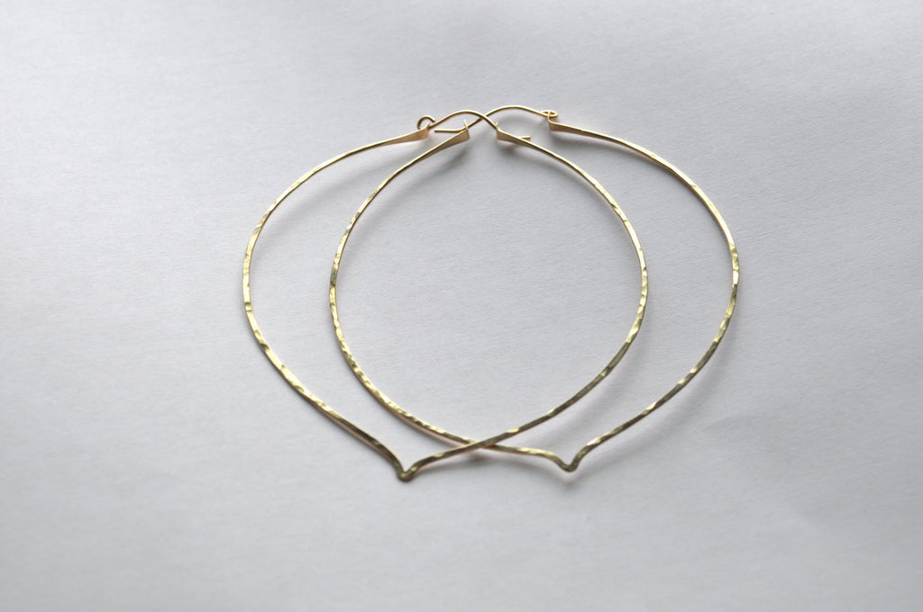 Extra Large Lotus Hoops