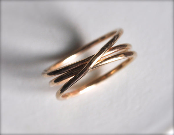 Hammered Wrap Stacking Ring