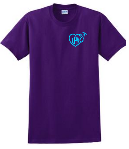 Short Sleeve Shirt - Small Monogram with Stethoscope Heart