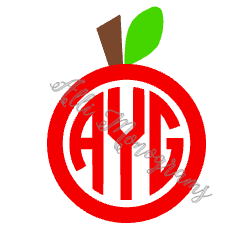 Apple Monogram Decal
