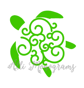 Swirly Turtle Decal