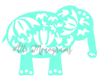 Whimsical Elephant Decal